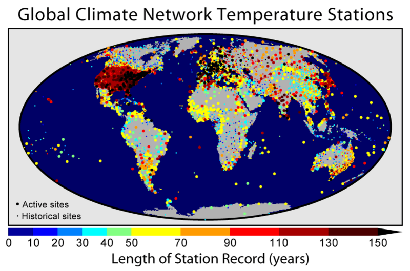 Global Climate Network Temperature Stations